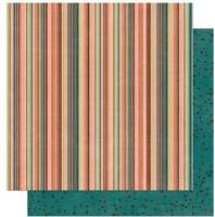 Bo Bunny - Olivia Collection - 12x12 Double Sided Paper - Olivia Stripe