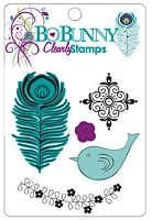Bo Bunny - Peacock Lane Collection - Clear Stamps