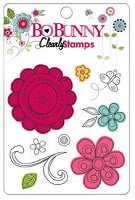 Bo Bunny - Petal Pushers Collection - Clear Stamps