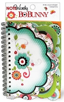 Bo Bunny - Petal Pushers Collection - Note Worthy (spiral bound journal book)