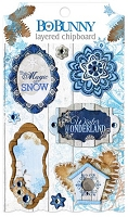 Bo-Bunny - Powder Mountain Collection - Layered Chipboard