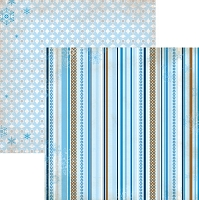 Bo-Bunny - Powder Mountain Collection - 12x12 Double Sided Paper  - Stripe
