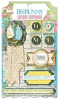 Bo Bunny - Prairie Chic Collection - Layered Chipboard