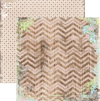 Bo Bunny - Prairie Chic Collection - 12x12 Paper - Chevron