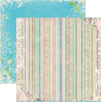 Bo Bunny - Prairie Chic Collection - 12x12 Paper - Laundry