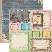 Bo Bunny - Prairie Chic Collection - 12x12 Paper - Yardsale