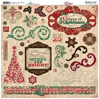 Bo Bunny - Rejoice Collection - Chipboard