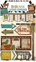 Bo Bunny - Safari Collection - Layered Chipboard