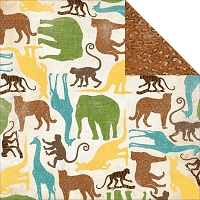 Bo Bunny - Safari Collection - Growl Paper