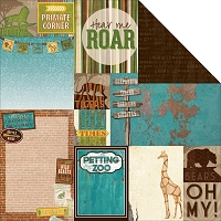 Bo Bunny - Safari Collection - Habitat Paper