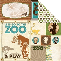 Bo Bunny - Safari Collection - Zoo Paper