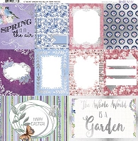 Bo Bunny - Secret Garden Collection - Foil Vellum 12