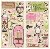 Bo Bunny - Sweet Moments Collection - 6x12 Chipboard