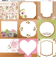 Bo Bunny - Sweet Moments Collection - Foil Vellum Paper