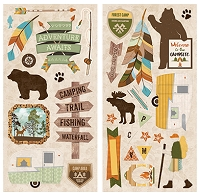 Bo Bunny - Take a Hike Collection - 6x12 Chipboard