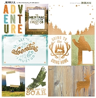 Bo Bunny - Take a Hike Collection - Foil Vellum Paper