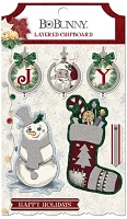 Bo Bunny - Tis The Season Collection - Layered Chipboard