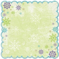 Bo Bunny - Winter Joy Collection - 12x12 Die Cut Paper - Winter Joy Awe