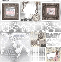 Bo Bunny - Winter Wishes Collection - Foil Vellum Paper