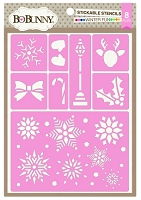 Bo Bunny - Stickable Stencils - Winter Fun