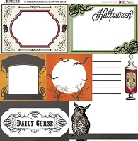 Bo Bunny - Wonderfully Wicked Collection - Foil Vellum Paper