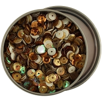 28 Lilac Lane/Buttons Galore - Sequin Tin - Neutrals (6mm)
