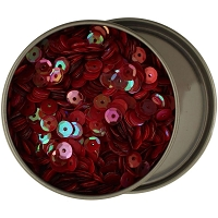 28 Lilac Lane/Buttons Galore - Sequin Tin - Reds (6mm)