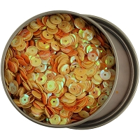 28 Lilac Lane/Buttons Galore - Sequin Tin - Yellow & Orange (6mm)