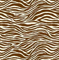Canvas Corp - 12x12 Single Sided Cardstock - Chocolate & Ivory Zebra