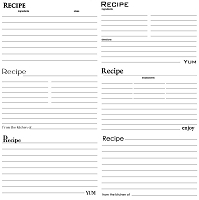 Canvas Corp - 12x12 Single Sided Cardstock - Black & White Recipe Cards