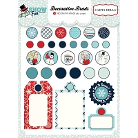 Carta Bella - Snow Fun Collection - Brads & Tags