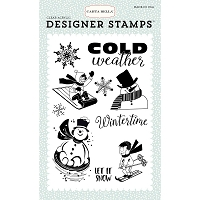 Carta Bella - Snow Fun Collection - Snow Fun Wintertme Clear Stamp