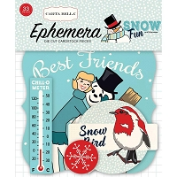Carta Bella - Snow Fun Collection - Die Cut Ephemera