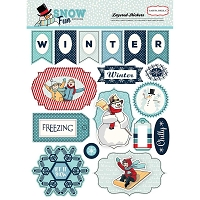 Carta Bella - Snow Fun Collection - Layered Stickers