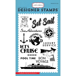 Carta Bella - Let's Cruise Collection - Set Sail Clear Stamp