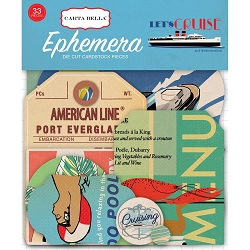 Carta Bella - Let's Cruise Collection - Die Cut Ephemera