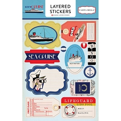 Carta Bella - Let's Cruise Collection - Layered Stickers