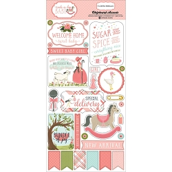 Carta Bella - Rock-a-Bye Baby Girl Collection - 6
