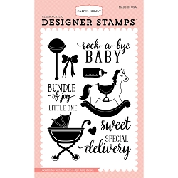 Carta Bella - Rock-a-Bye Baby Girl Collection - Rock-a-Bye Baby Girl Clear Stamp