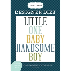 Carta Bella - Rock-a-Bye Baby Boy Collection - Handsome Little One Word Die Set