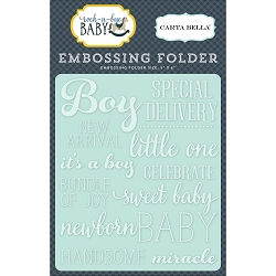 Carta Bella - Rock-a-Bye Baby Boy Collection - Little One Boy Embossing Folder