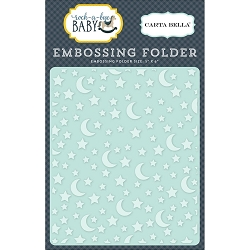 Carta Bella - Rock-a-Bye Baby Boy Collection - Stars & Moon Embossing Folder