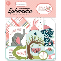 Carta Bella - Rock-a-Bye Baby Girl Collection - Die Cut Tags & Frames