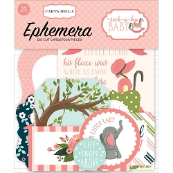 Carta Bella - Rock-a-Bye Baby Girl Collection - Die Cut Ephemera