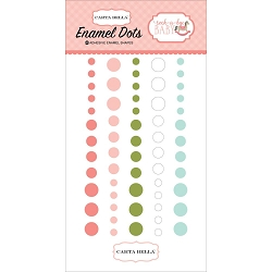 Carta Bella - Rock-a-Bye Baby Girl Collection - Enamel Dots