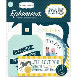 Carta Bella - Rock-a-Bye Baby Boy Collection - Die Cut Ephemera