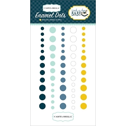 Carta Bella - Rock-a-Bye Baby Boy Collection - Enamel Dots