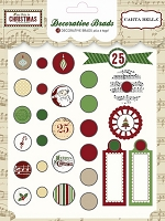 Carta Bella - So This Is Christmas Collection by Carina Gardner - Decorative Brads