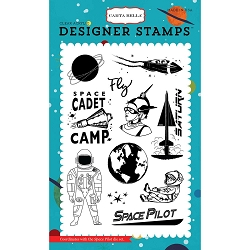 Carta Bella - Space Academy Collection - Space Academy Space Pilot Clear Stamp