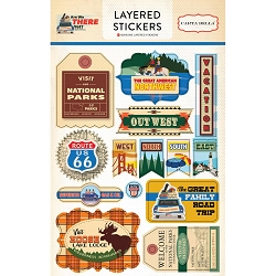 Carta Bella - Are We There Yet? Collection - Layered Stickers